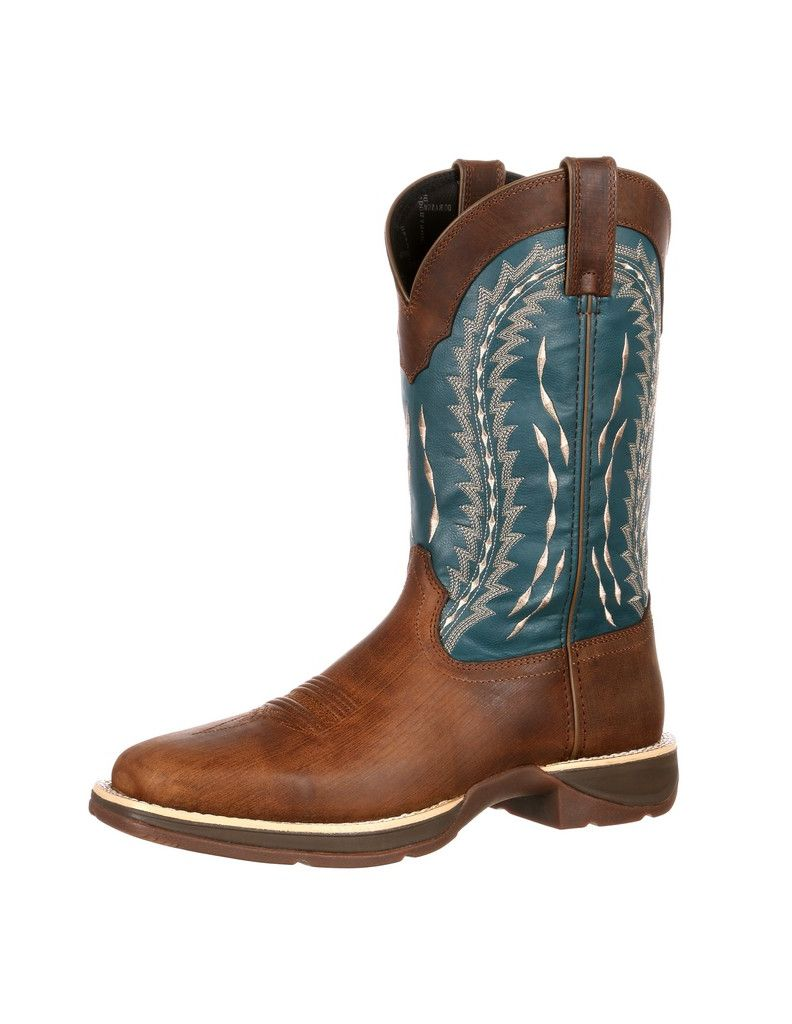 Durango Boot Men's DDB0093 Rebel Boot Brown Teal Leather Faux Leather DDB0093 by Durango