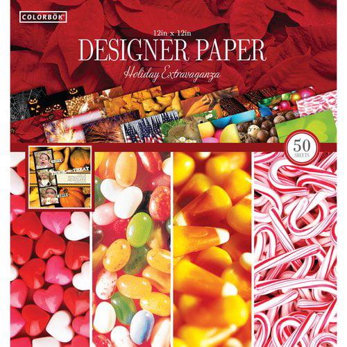 """Colorbok 12"""" Holiday Extravaganza Designer Paper Pad, 50 Piece"""