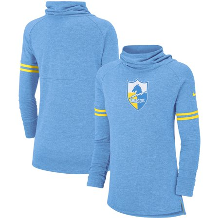 best service 3ab9e 56ab8 Los Angeles Chargers Nike Women's Historic Marks Long Sleeve Tri-Blend  Funnel Sweatshirt - Blue