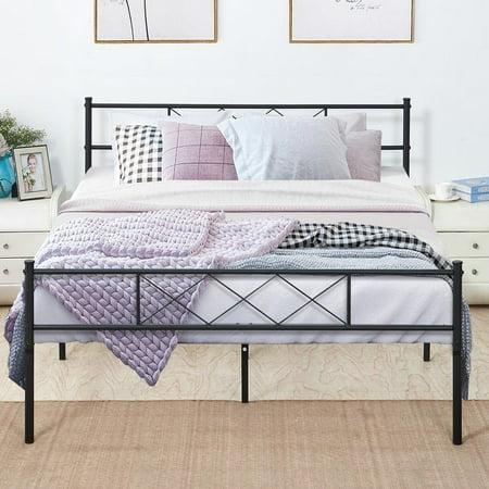 Queen Size Platform Bed Frame Fluted Design Fix Mattress Optional