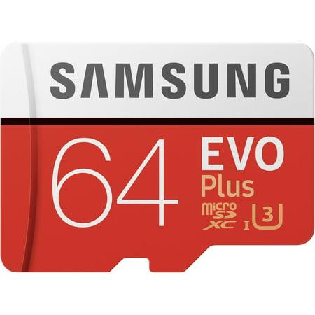 Samsung 64GB EVO+ UHS-I microSDXC Memory Card (Samsung Evo 64gb Microsdhc Class 10 Uhs 1)