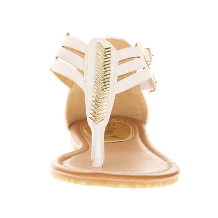 Victoria K Women's Golden Feather Sandals