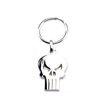 Fire Skull Keychain (Marvel Punisher Skull Stainless Steel Keychain )
