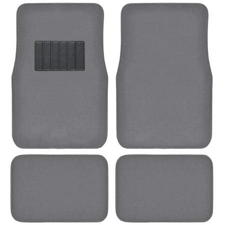 Classic Carpet Floor Mats for Car & Auto - Universal Fit -Front & Rear with  Heelpad (Medium Gray) Medium Cargo Liner
