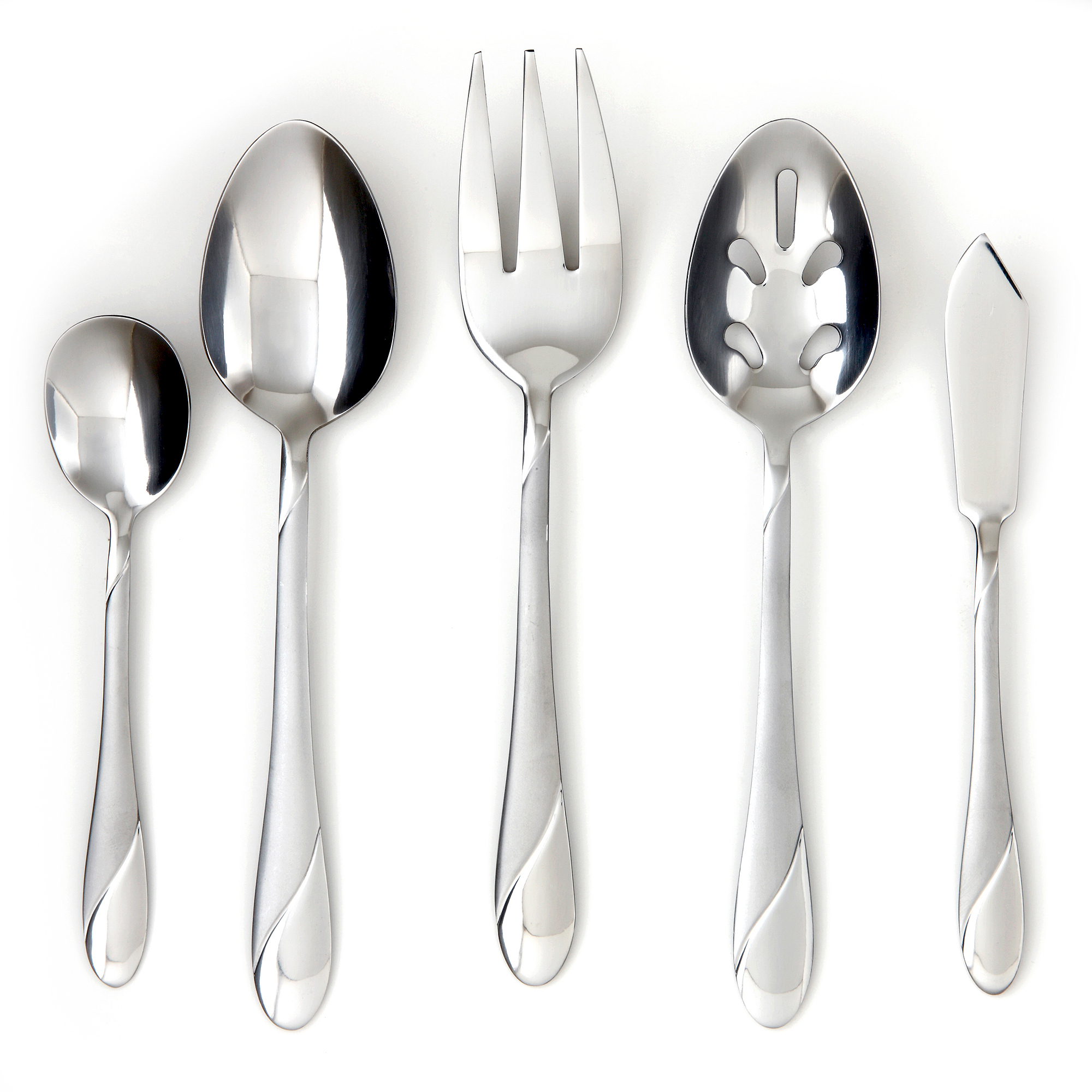 Flatware Service for 12 Stainless Steel Set Silverware Place Settings 89 Pieces