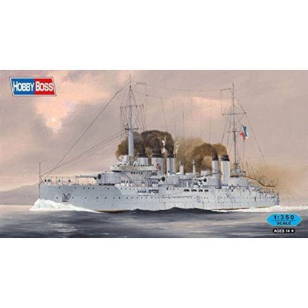 Hobby Boss French Navy Pre-Dreadnought Battleship Danton Model Kit (1/350 Scale) (48 Scale Hobby Boss)
