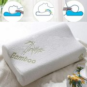High Density Bamboo Memory Foam Bed Pillow Hypoallergenic Cool Comfort USA Special Offer