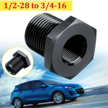 1/2-28 to 3/4-16 Threaded Oil Filter Adapter Aluminum Automotive (Oil Filter Gun Adapter)