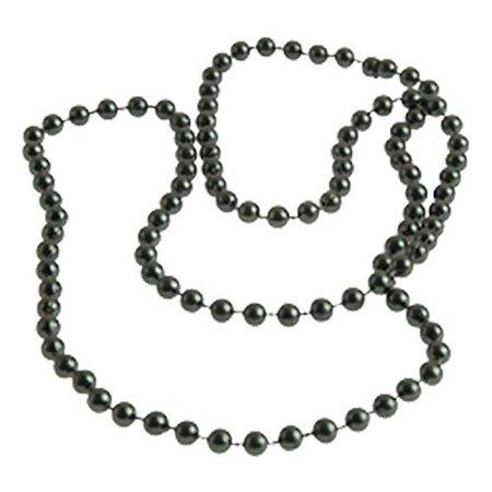 Lot Of 12 Black Metallic Mardi Gras Beaded Necklaces - image 1 of 1