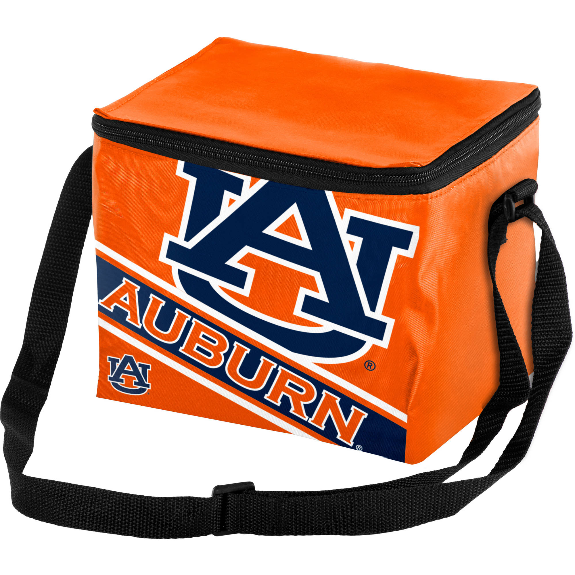 Forever Collectibles Big Logo Stripe 6 Pack Cooler, Auburn University Tigers