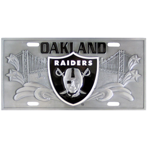 Oakland Raiders Official NFL 3D License Plate by Siskiyou 791253