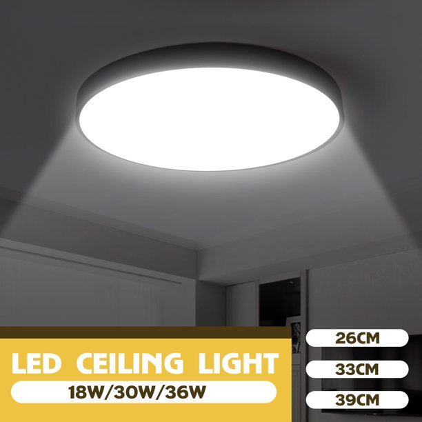 6000k 6500k Led Super Bright Ceiling Lights Flush Mount Ceiling Lighting Fixtures Daylight White For Living Room Bedroom Kitchen Hallway Office Walmart Com Walmart Com