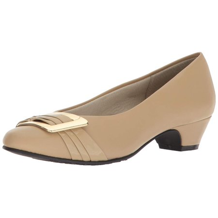 Pleats Satin Pumps (Soft Style Womens Pleats Be With You Closed Toe Classic Pumps )