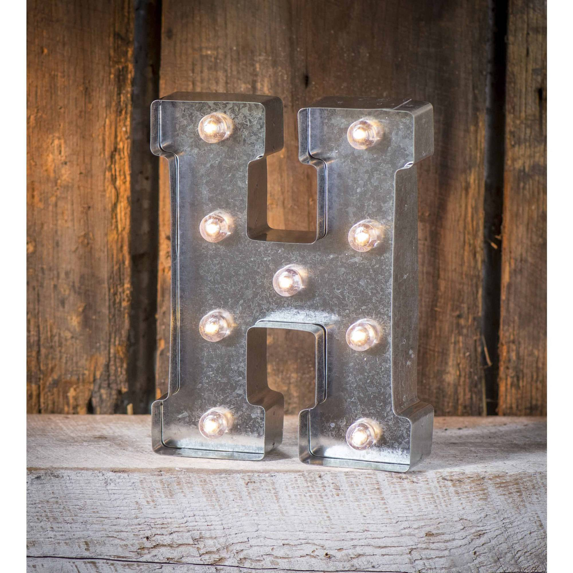 Light-Up Marquee Letter H