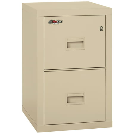 FireKing 1.3 cu. ft. Water and Fire-Resistant Two-Drawer File with High-Security Key Lock, 2R1822CPA White