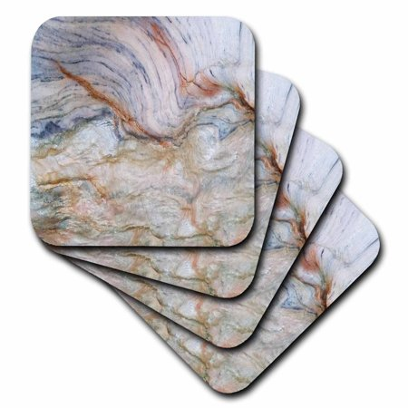 3dRose Image of Copper And Blue Granite - Ceramic Tile Coasters, set of 4 (Cooper Coasters)