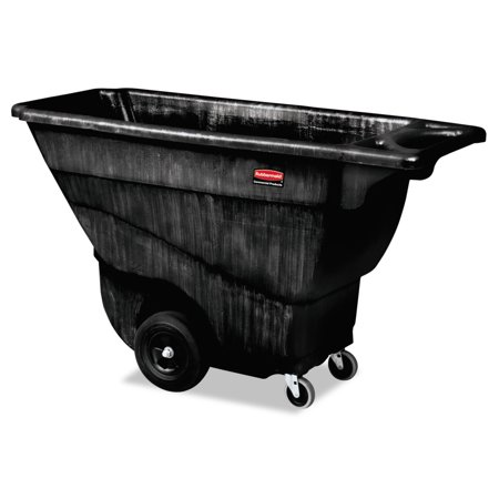 Rubbermaid Commercial Structural Foam Tilt Truck, Rectangular, 850 lb. Cap., - Black Tilt Truck