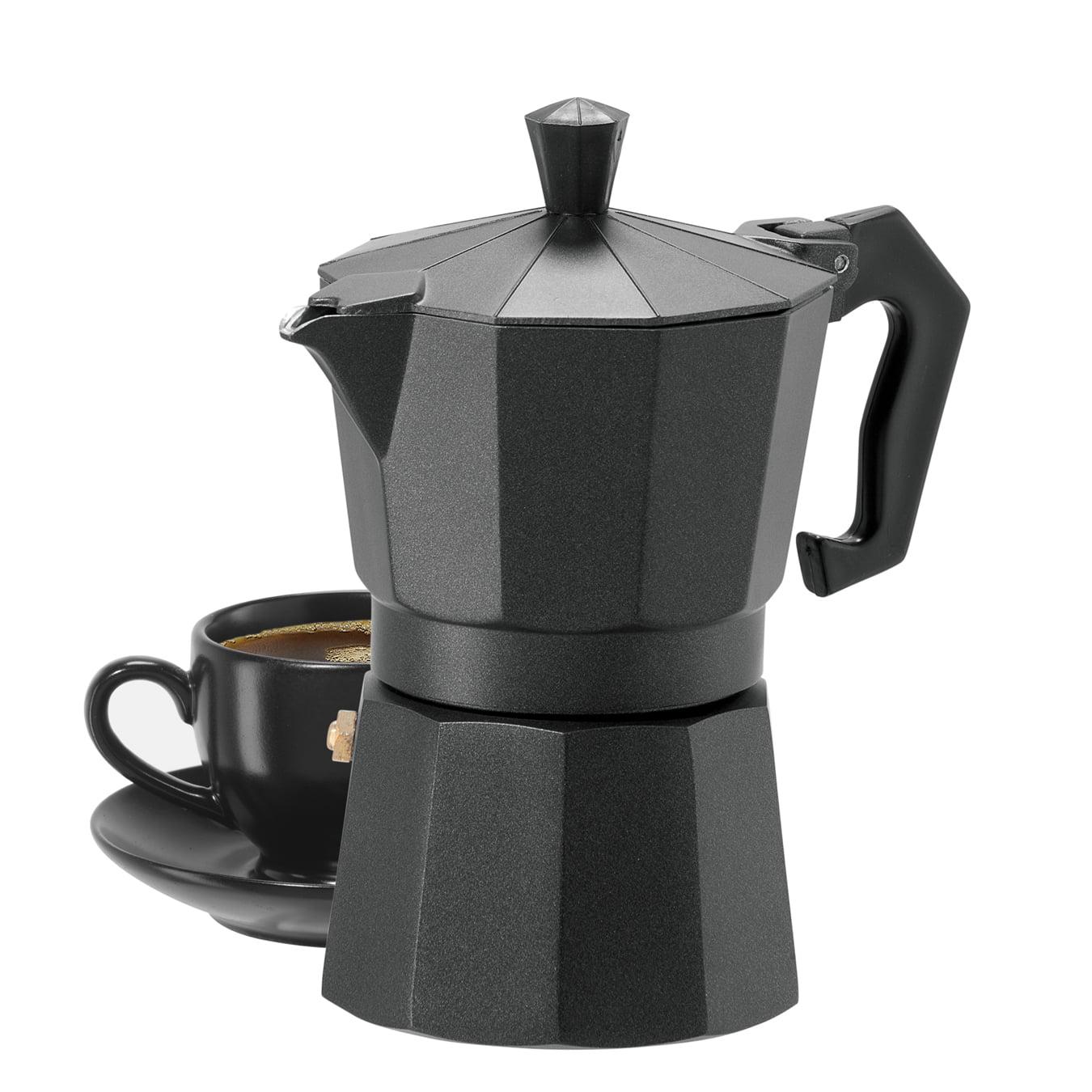 Oggi 6570.0 3 Cup Cast Aluminum Stovetop Espresso Maker, Silver