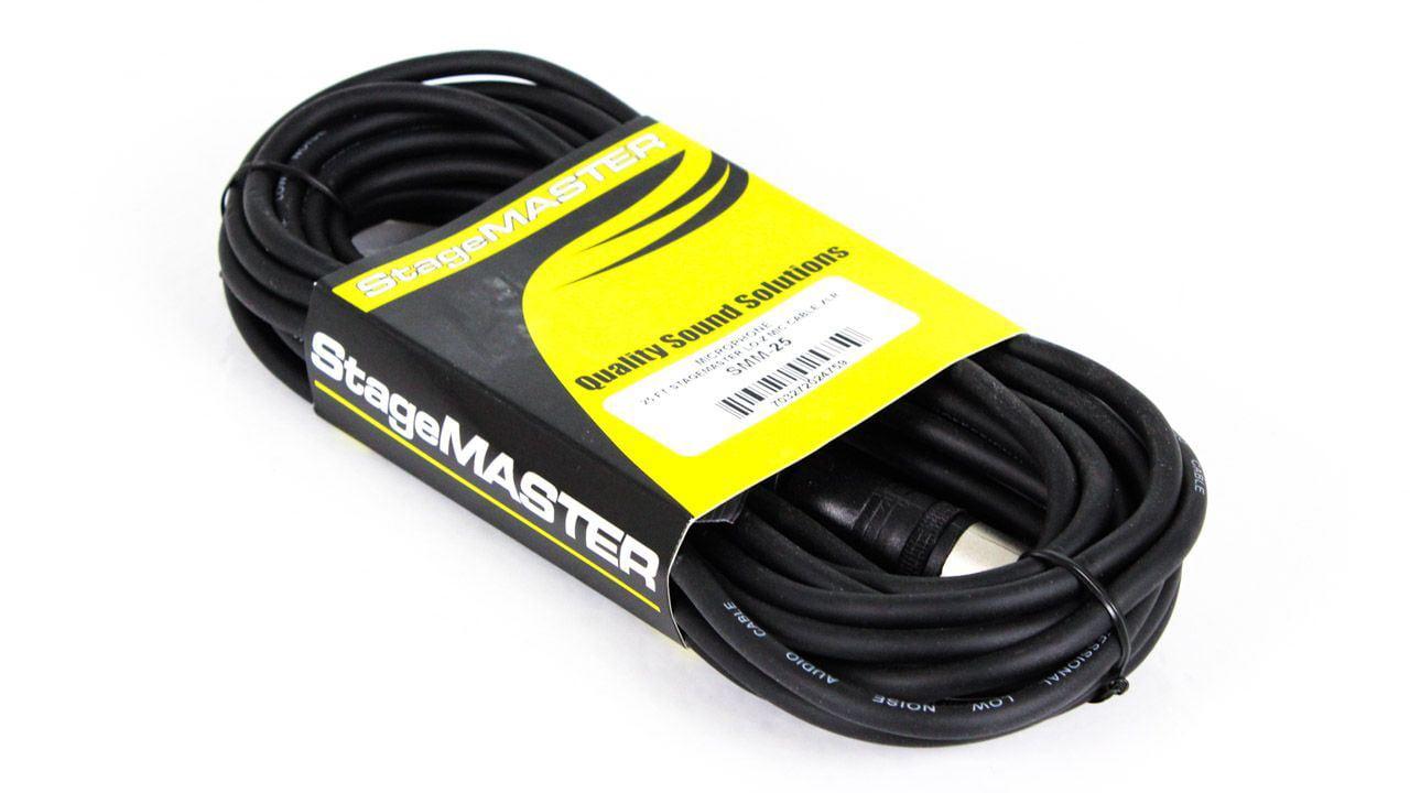 25-foot Rapco Stagemaster XLR Mic Cable SMM-25 XLRM XLRF 25-feet 25ft 25' by