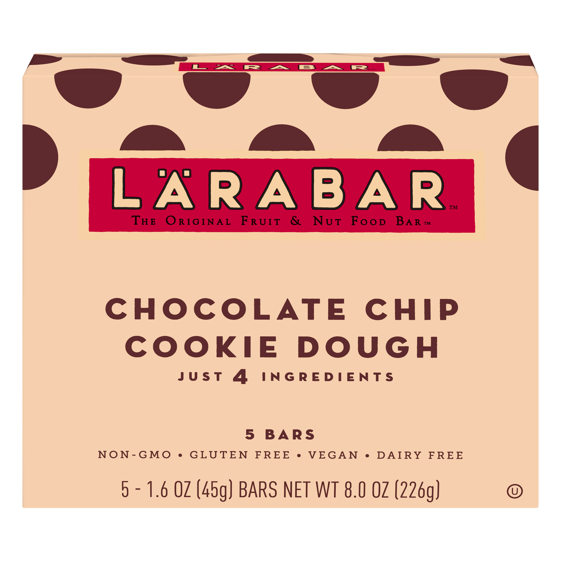 Larabar Gluten Free Bar Chocolate Chip Cookie Dough 1.6 oz Bars