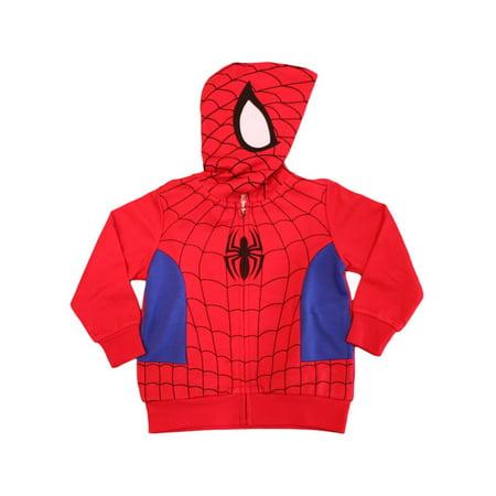 Marvel Little Boys' Spiderman Costume Hoodie (4) Boo Kids Hoodie