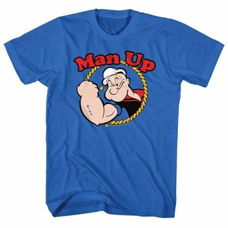 Popeye Comics Man Up Adult Short Sleeve T Shirt