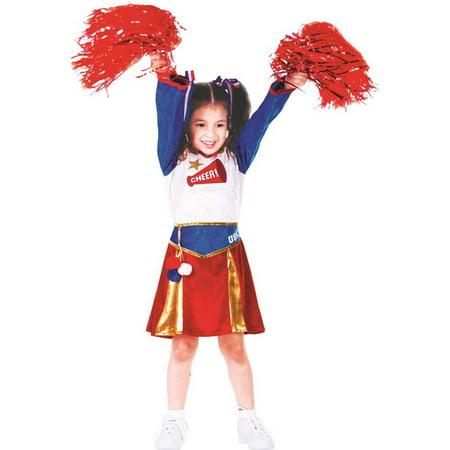 American Cheerleader Toddler Costume - Cheerleader Dress Up Costume
