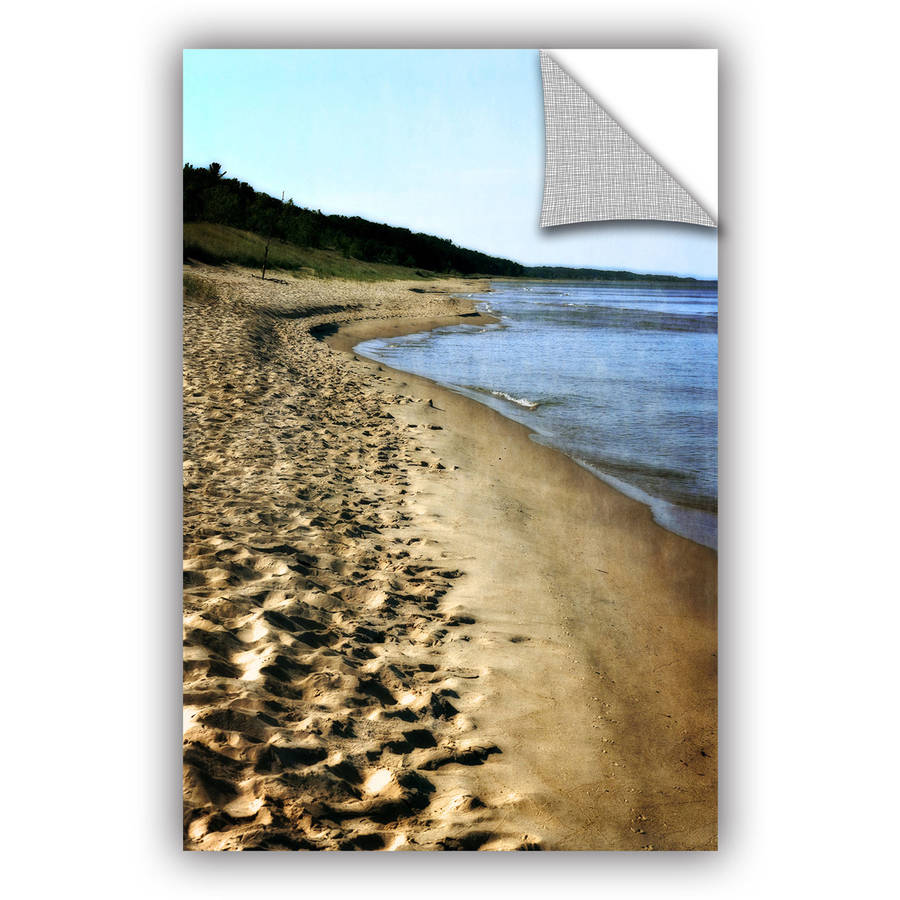 """ArtWall Kevin Calkins """"Footsteps in the Sand"""" ArtAppealz Removable Wall Art"""