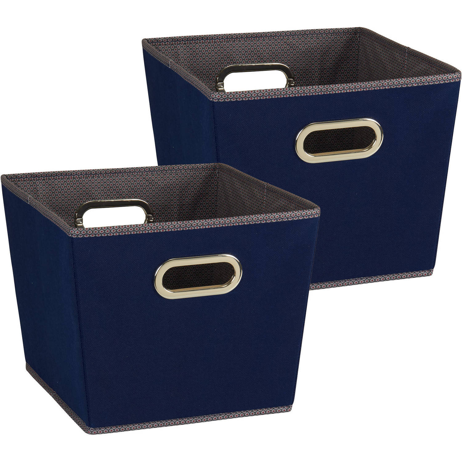 Household Essentials Medium Tapered Bins, 2-Piece Set