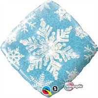 "One Blue Snowflake 18"" Square mylar balloon...Winter Ball Onederland BirthdayFREE RIBBON!!"