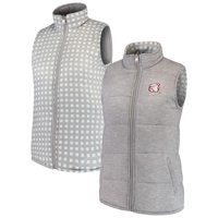 Mississippi State Bulldogs Women's Hide and Chic Reversible Vest - Heathered Gray