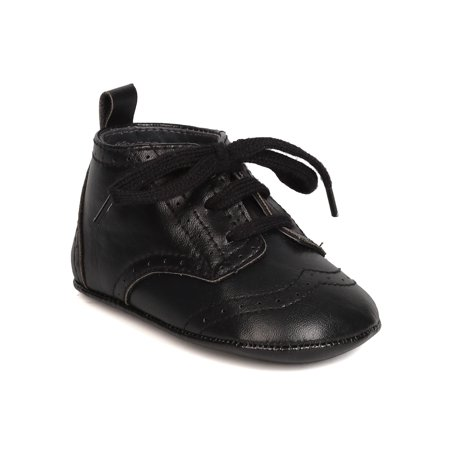 aadi FI68 Leatherette Lace Up Oxford Tuxedo Dress Bootie (Infant Boys)