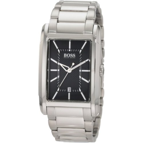 BOSS Black Large Rectangular Black Dial Watch