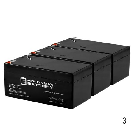 3ah Lead Acid Battery - 12V 3AH Sealed Lead Acid Battery for Rechargeable Spotlight - 3 Pack