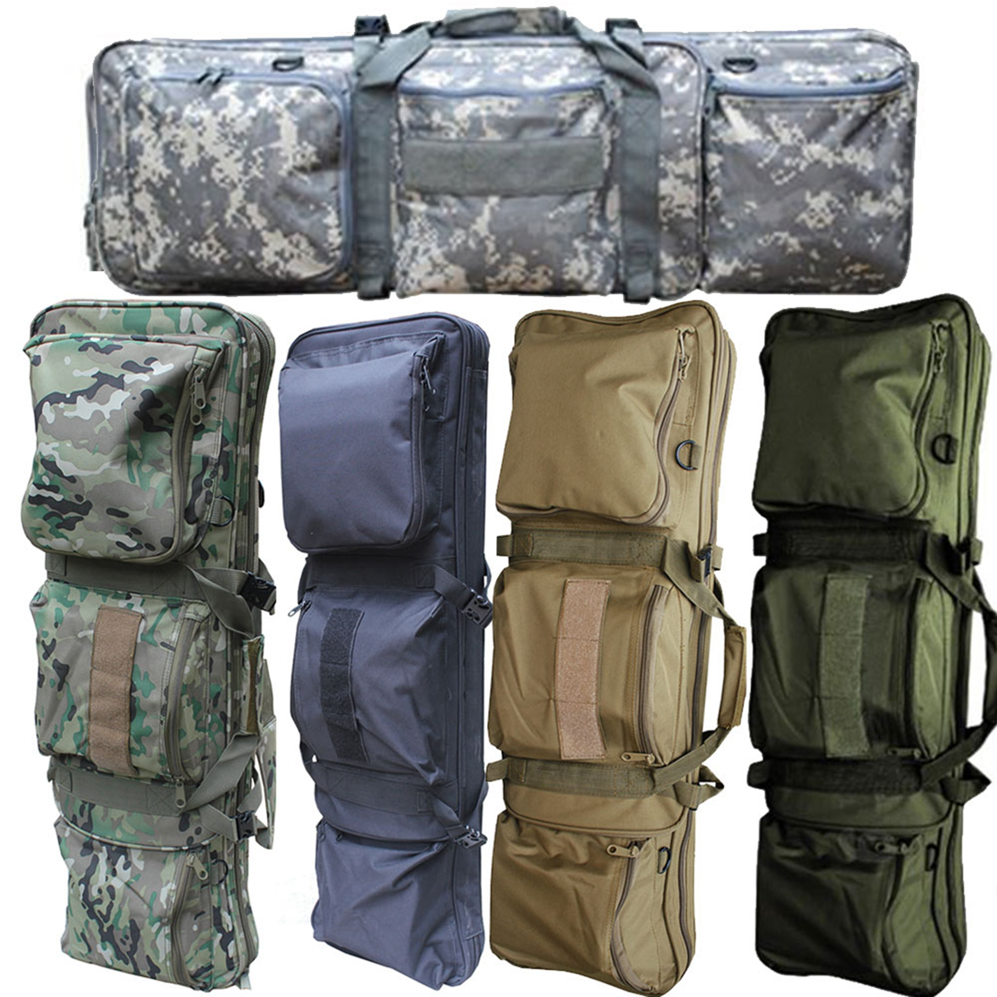 "Cvlife  85CM Tactical Military Rifle Gun Carrying Case Bag 34"" Dual Padded Slip Carry Bag"