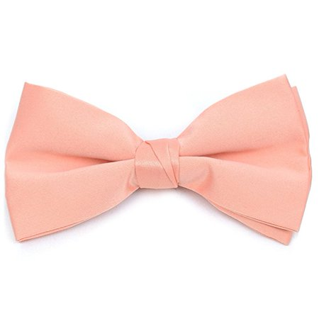 Boy's Poly Satin Banded Clip On Bow Ties (Bow Tie Clips)