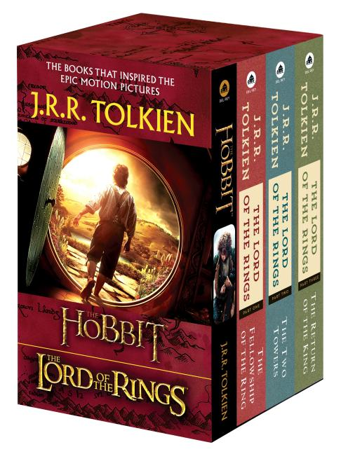 J R R Tolkien 4 Book Boxed Set The Hobbit And The Lord Of The Rings The Hobbit The Fellowship Of The Ring The Two Towers The Return Of The King Paperback Walmart Com