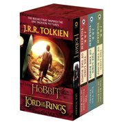 J.R.R. Tolkien 4-Book Boxed Set: The Hobbit and the Lord of the Rings : The Hobbit, the Fellowship of the Ring, the Two Towers, the Return of the King (Paperback)