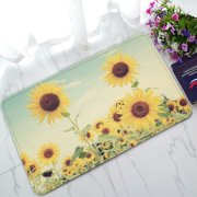 PHFZK Beautiful Sky Doormat, Nature Art Sunflowers Fields Landscape Doormat Outdoors/Indoor Doormat Home Floor Mats Rugs Size 30x18 inches