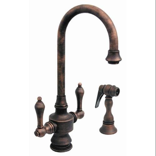Whitehaus WHKSDLV3-8104-P Antique Style Kitchen Prep Faucet Spray In Pewter