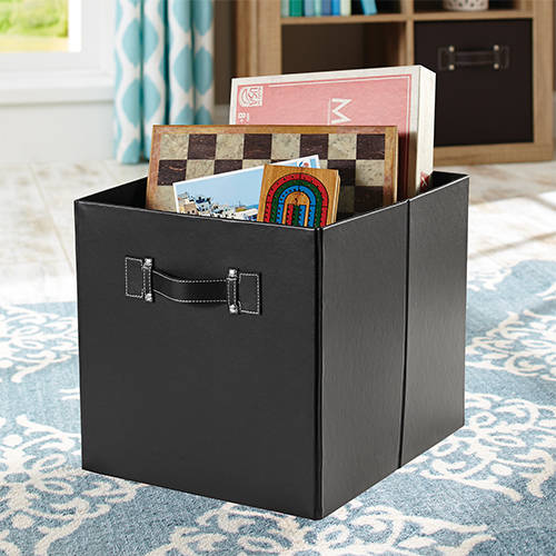Better Homes And Gardens Faux Leather Cube Storage Bins