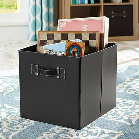Better Homes And Gardens 12 8 W X 12 8 D X 15 H Collapsible Fabric Cube Storage Bin Set Of 2
