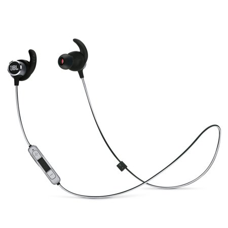 JBL Reflect Mini 2 Wireless In-Ear Sport Headphones with Three-Button Remote and Microphone (Black) (Jbl Wireless Microphone)
