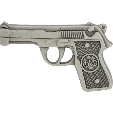 Colt .45 1911 Style Pistol Pin Silver Plated 1