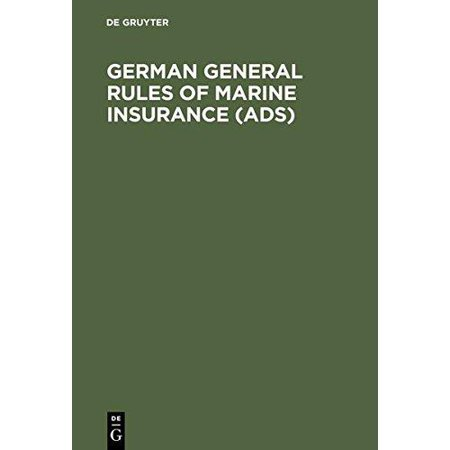 German General Rules Of Marine Insurance  Ads    And Dtv Hull Clauses 1978  As Amended In April 1984   Dtv Disbursement Etc  Clauses 1978  Special Conditions For Cargo  Ads Cargo 1973   Edition 1984   Special Conditions For Open Policies  Dtv Strike Riots And Civil Commotions Clauses 1984  Dtvnuclear