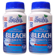 Evolve Bleach Tablets Ultra Concentrated, Original Scent, 32 ct.