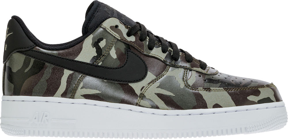Nike Air Force 1 07 LV8 Medium Olive Camo Basketball Shoe (7.5)