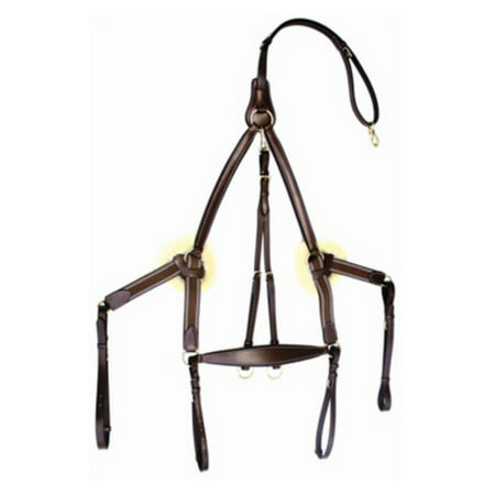 Henri De Rivel Pro 5 Point Elastic Breastplate Martingale with Running Attachment