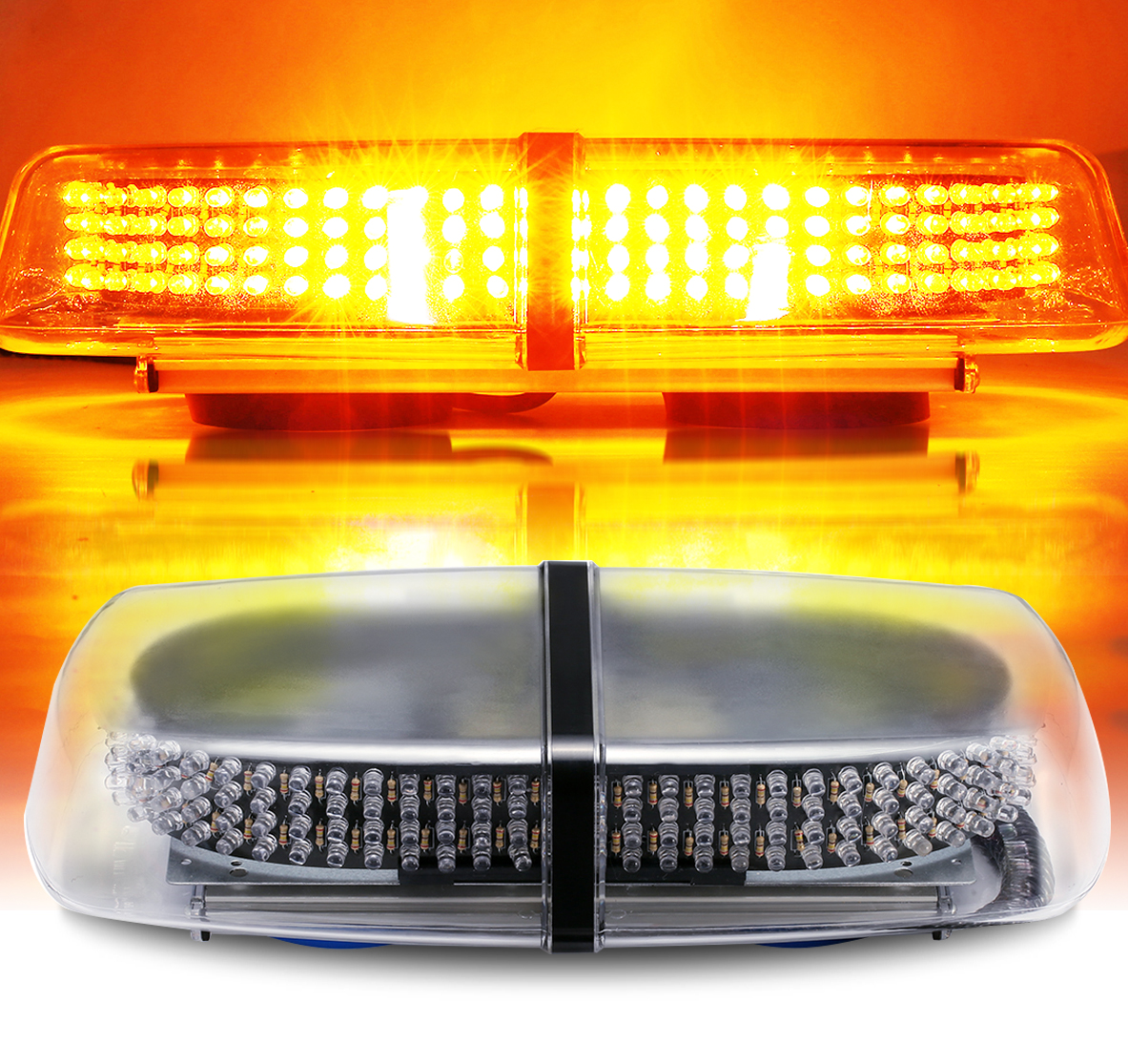 240 LED 7-Flash Modes Emergency Warning Strobe Light Breakdown Hazard Flash Beacon Lights Bar Caution Warning for Car Vehicle Van Truck SUV