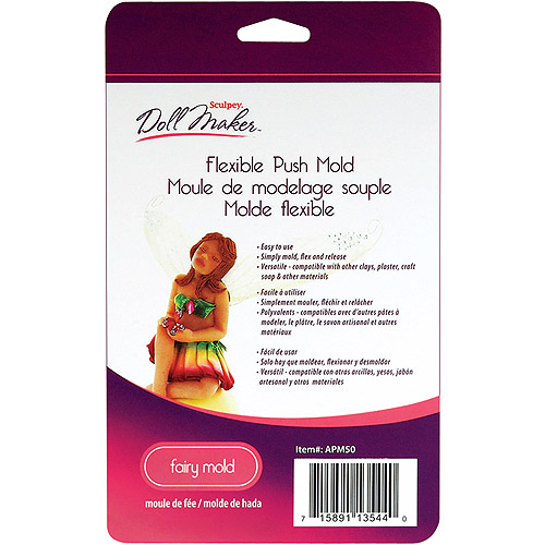 Polyform Sculpey III Doll Maker Flexible Push Mold: Fairy Multi-Colored